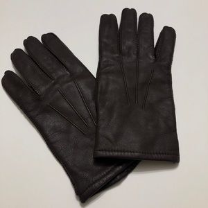Vintage Fownes Brown Leather Driving Gloves